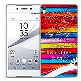 Conie Backcover kompatibel mit Sony Xperia Z3, Silikon Hülle mit Bilder Motive verstärkte Knöpfe Kantenschutz Bumper