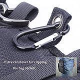 Hengying Herren Männer Nylon Kleine Umhängetasche Gürteltasche Mini Handy Tasche mit Gürtelclip Reißverschluss für iPhone 7 Plus 6S Plus 6S Galaxy S8 Plus S7 J5 Xperia Xa1 5'' 5,5'' (Schwarz) - 6