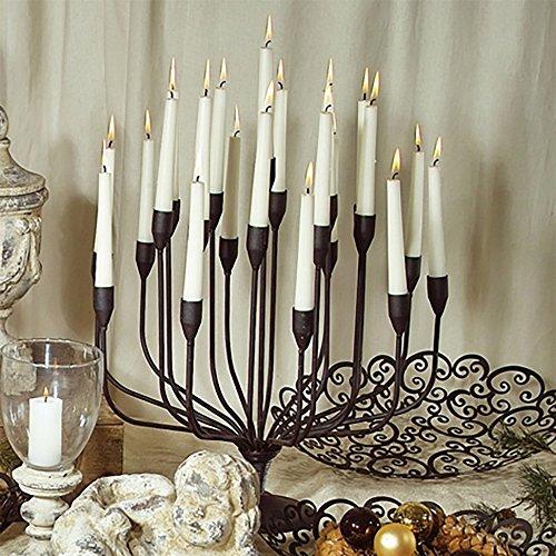 Metall-Kerzenleuchter 46cm schwarz