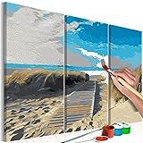 murando - Malen nach Zahlen Strand Meer 60x40cm 3 TLG Malset DIY n-A-0236-d-e