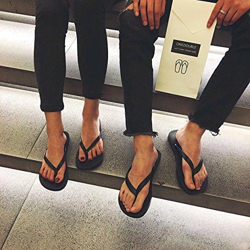 Xing Lin Sandales Pour Hommes Nouveau Style DÉté MenS Chaussons Tongs Antidérapant Garçons Et Filles Pincée Plage Sandales Et Pantoufles black