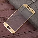 Samsung Galaxy J5 (2016) Tempered Glass Golden Screen Protector Edge To Edge Perfect Fit High Quality Glass 2.5D Round Edge 0.33mm Thickness 9H Hardness Oil Coated By MJ CREATION