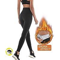 NHEIMA Pantalon de Sudation Femmes, Legging de Sport à Taille Haute en Nano-Matériaux pour Accélérer Transpiration…