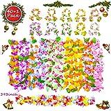 Icnow Ghirlanda Hawaiana, 41PZ Hawaiian Fiori con 20 Bracciali 10 Fasce 10 Collane Multicolore, 10m Striscia Fiore Hawaiana Lungo, Decorazione di Feste,Matrimonio,Compleanno,Puntelli Fotografici