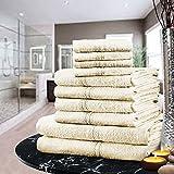 Marie & Adam - Juego de bolas de toalla de lujo, 100% algodón egipcio, 10 piezas de toallas de baño de mano