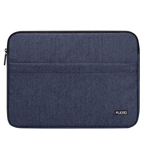 Plemo Laptophülle Hülle Tasche Sleeve Schutzhülle für 15-15,6 Zoll Laptop/MacBook Air/MacBook Pro/Notebook-Computer, Denimblau