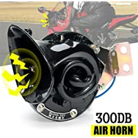 XILOSIN Waterproof Black 12V Motorcycle Snail Air Horn Dual Horn Siren Speaker for Motorbike Auto Car Scooter