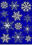 Fensterbild Set 12-tlg. Schneeflocken Eiskristalle weiß