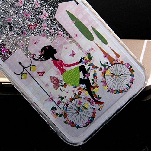 iPhone 6S Plus Hülle Bling,iPhone 6S Plus Hülle Flüssigkeit,iPhone 6 Plus Hülle Glitzer,iPhone 6S Plus Case Transparent,Flüssig Glitzer Case Cover Hülle Tasche Schutzhülle für iPhone 6S Plus,EMAXELERS Angel Girl 8