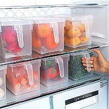 dealglad® 1Boîte Hermétique pour réfrigérateur Boîte de rangement alimentaire de cuisine avec poignée et couvercle