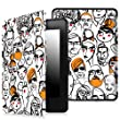 Fintie SmartShell Case for Kindle Paperwhite - The Thinnest and Lightest Cover With Auto Sleep / Wake for All-New Amazon Kindle Paperwhite (Fits All 2012, 2013, 2015 and 2016 Versions), Friendly Crowd