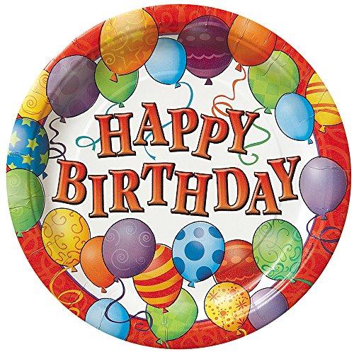 23cm Geburtstag Luftballons Party Teller, 8Stück (Themed Geburtstags-party-ideen Boy)