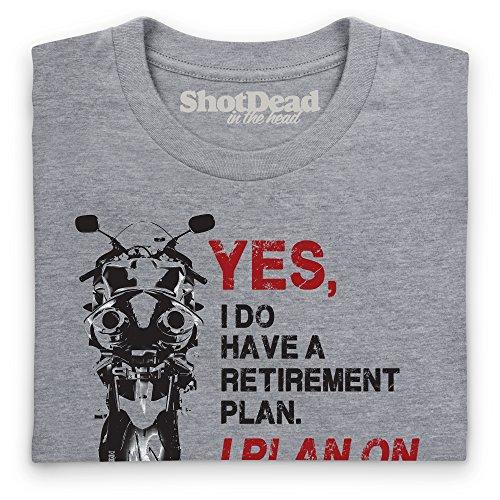 Retirement Plan T-Shirt, Damen Grau Meliert