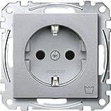 Merten MEG2352-0460 SCHUKO-Steckdose mit Kennz. Waschmaschine, BRS, Steckkl, aluminium, System M