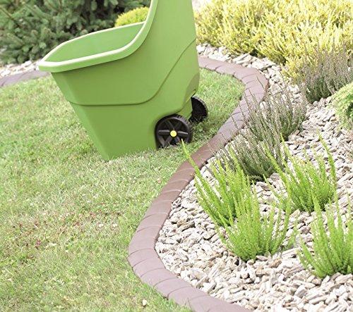 Palisade Rasenkante Garten Beetumrandung Beeteinfassung 3 Farben 3,8m IPAK1