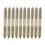 10 Stück M8 x 80 mm Beiden Enden Holz to Holz chrauben Blechschrauben Gewinde Schrauben für Möbel Befestigung Dübel