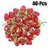 Outgeek 40PCS Artificiale Fragole Realistico Frutta Finta Frutta Decorativa Per Il Partito S