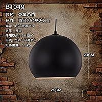 PC semplice in stile loft industriale di ferro Droplight Vintage Ciondolo lampada attrezzature per sala da pranzo LED luce pendenti Home illuminazione,un