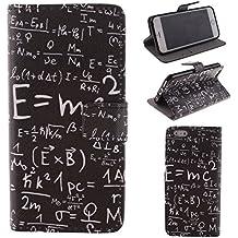 Ekakashop iPhone 6 Cover, iPhone 6S Custodia in pelle, Copertura di Vibrazione pelle con Magnete Flip Formula Matematica Nera Case Stile del Libro di pelle della Protezione di caso del basamento della Copertura del Sacchetto della Cassa Cover per Apple iPhone 6 6S