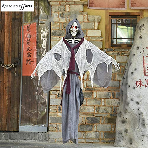 WSJDE Halloween Party Requisiten Hexe Ornamente Sprachsteuerung Elektrische Hängehexe Puppe Halloween Dekoration Horror House Haunted Doll