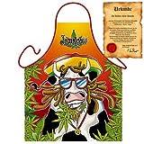 Crazy Rastalocken Rind: Jamaicow - Rastafari Fun Schürze zum Geburtstag one Size Fb bunt mit gratis Urkunde : )