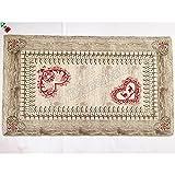 Tappeto arredo Passatoia Scendi letto in ciniglia Gardena Tirolese, fondo antiscicolo - Made in Italy - Cm 60x140