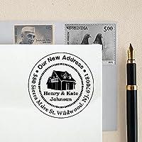 Personalizzato Rotondo Indirizzo Stamp Monogram Famiglia Indirizzo personalizzati timbro di gomma