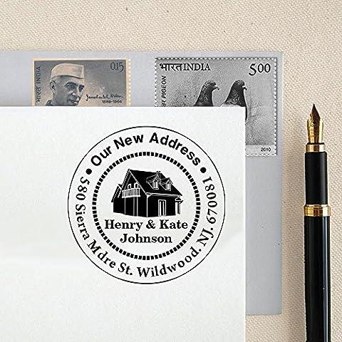 Kundenspezifische runde Adressen-Stamp-Monogramm Familien Adresse Personalisierte Stempel