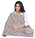 #1: Nursing Cover for Breastfeeding Privacy EXTRA WIDE for Full Coverage - Breathable 100% Cotton , Stylish and High Quality with Pocket- Multi Color