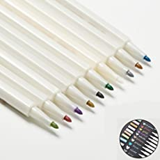 Metallic Marker Pens 10 Colors for Photo Scrapbook Gift Card Paper Use on Any Surface-paper Glass Plastic Adults DIY Pens