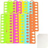 10 Pieces Embroidery Floss Organizer Cross Stitch Thread Holder,Thread Organiser Cards Holder with 165 Stick Lable Tag,Multi-