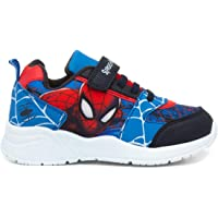 Spiderman Kids Blue and Red Easy Fasten Trainers
