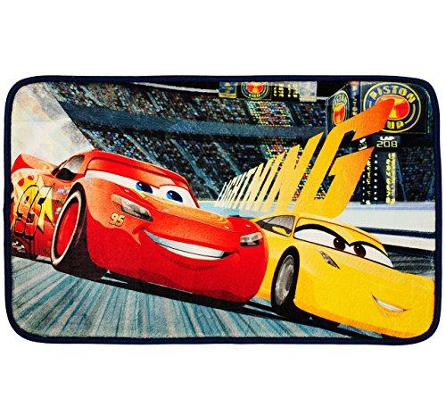 alles-meine.de GmbH 3 in 1: Bettvorleger / Badewannenvorleger / Duschvorleger -  Disney Cars - Evolution - Lightning McQueen / Auto  - Teppich rutschfest , da unten gummiert - ..