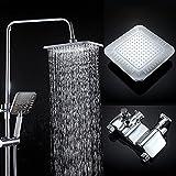 Lalaky Badezimmer Wasserhahn Küche Wasserhahn Spültischarmatur Spülbecken Waschtischarmatur Mischbatterie Kupfer-Dusch-Set Energiesparende Kompressor-Dusche Für Badezimmer Und Küchen