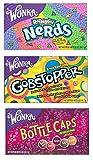 Wonka Lovers gemischtes Kino Pack - Nerds - Gobstoppers - Bottle Caps