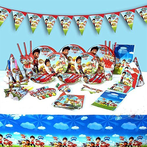 Paw Patrol set completo di accessori per feste bambini festa di compleanno piatti tovaglioli bicchieri cappelli e più per 6persone
