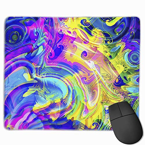 Herren-pigment (Professional Gaming Mouse Pads Pigment Picture Laptop Pad Non-Slip Rubber Stitched Edges 18X22cm)