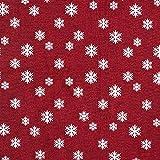Fabulous Fabrics Weihnachtsstoff Jaquard Schneeflocke -