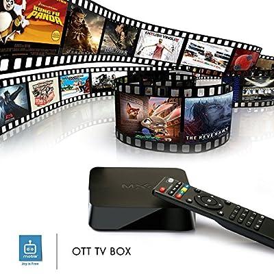 Mobie MXQ Quad Core Android 4.4 TV Box KODI (XBMC) Sports Movies Free Streaming Plug N Play
