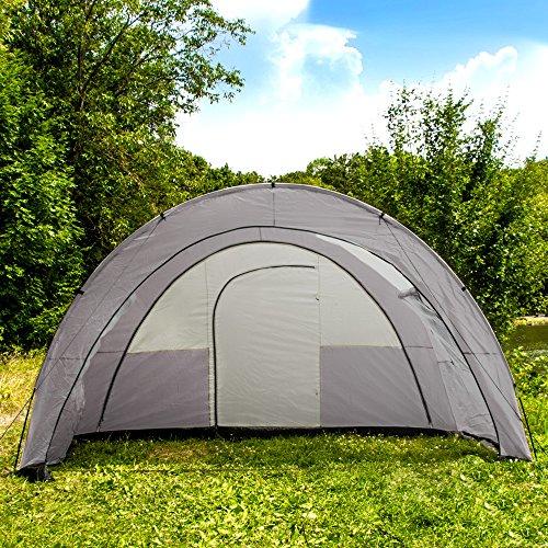 TecTake C&ing tent 3000 mm hydrostatic head ... & TecTake Camping tent 3000 mm hydrostatic head tunnel with foyer 4 ...