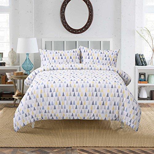 Dreamaker 100% Baumwolle Bettbezug-Set, gesteppt Betten Set bedruckt alle Größen, Single 135*200CM