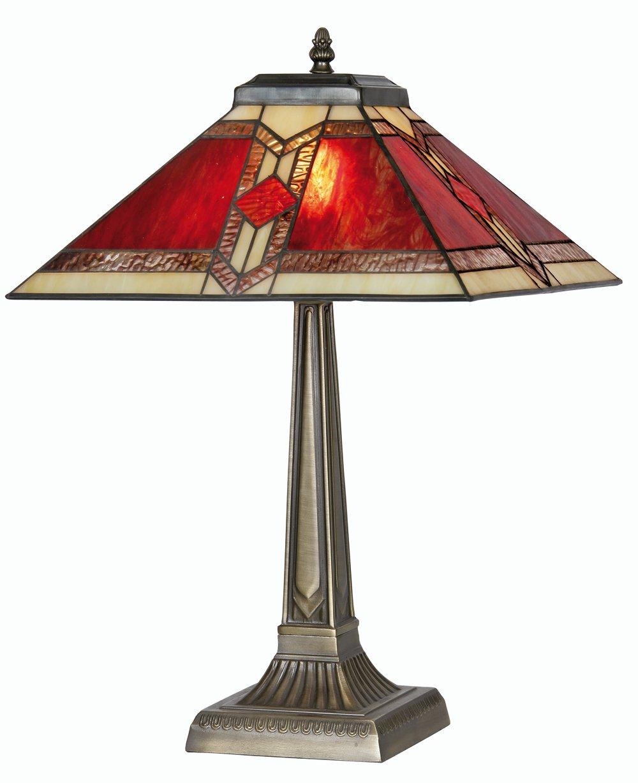 oaks lighting aztec tiffany table lamp amazoncouk lighting -