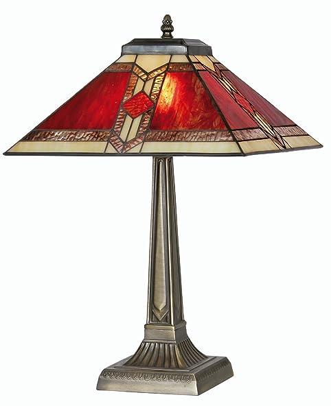 Oaks Lighting Aztec Tiffany Table L&  sc 1 st  Amazon UK & Oaks Lighting Aztec Tiffany Table Lamp: Amazon.co.uk: Lighting azcodes.com