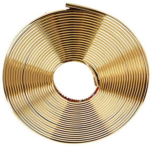 Preisvergleich Produktbild Gold 8M Auto Chrom überzog Felgenband Felgen Schutz Felgenring Felgenschutzring