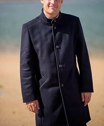Manteau laine imperméable made in france Dalmard Marine   La