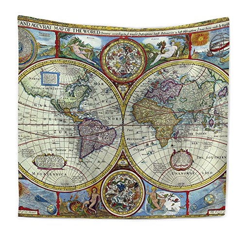 RFVBNM Wall Hanging Tapestry, Hippie Hippy Tapestries, Flower Watercolor  World Map Tapestry, Cotton Handmade Bedsheet,sofa cover, Bedding Bedspread,  ...