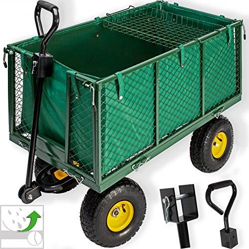 Kesser Bollerwagen ✔ 550kg belastbar Transportwagen Gartenwagen Gartenkarre ✔ herausnehmbare Plane Gerätewagen Handwagen vielseitig einsetzbar