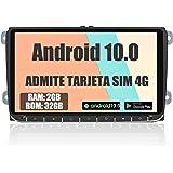 AWESAFE Android 10.0 [2GB+32GB] 9 Pulgadas Radio Coche con Pantalla Táctil para VW, Autoradio para VW con 4G/WiFi/GPS/Bluetoo