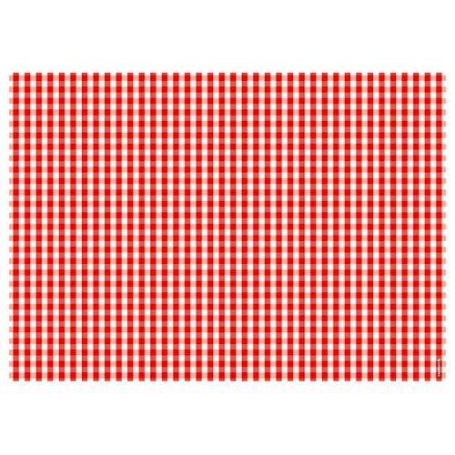 Papier-Tischsets – praktische Platzsets als Abreißblock – VICHY ROT