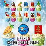 AK Giftshop giftshop AK-Kuchen-Party-Pack–essbare Cupcake-Deko (36Stück)